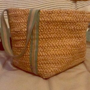 American Eagle Outfitters straw tote bag